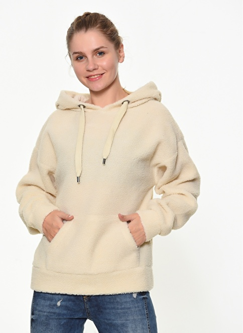 Only Peluş Sweatshirt Bej